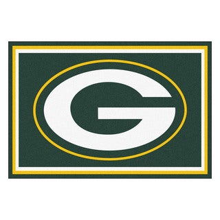 Fanmats Green Bay Packers Green Nylon Area Rug (5' x 8')