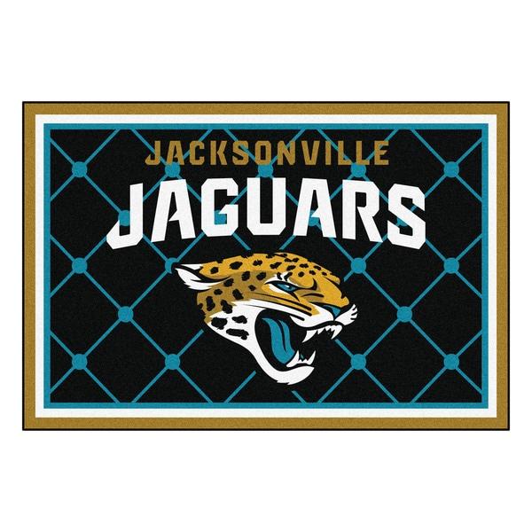 Fanmats Jacksonville Jaguars Black Nylon Area Rug (5' x 8')