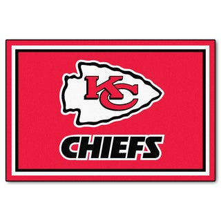 Fanmats Kansas City Chiefs Red Nylon Area Rug (5' x 8')