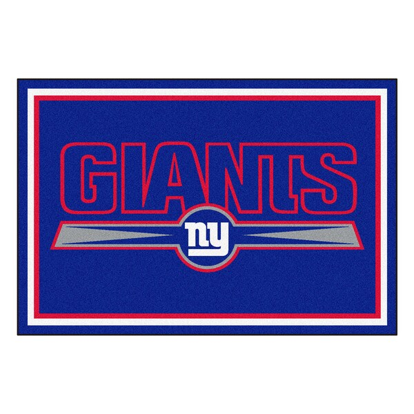 Fanmats New York Giants Blue Nylon Area Rug (5' x 8')