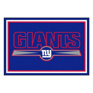 Fanmats New York Giants Blue Nylon Area Rug (5' x 8')