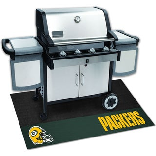 Fanmats Green Bay Packers Black Vinyl Grill Mat