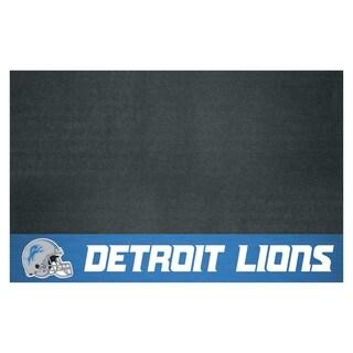 Fanmats Detroit Lions Black Vinyl Grill Mat
