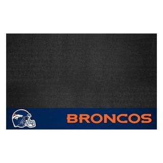 Fanmats Denver Broncos Black Vinyl Grill Mat