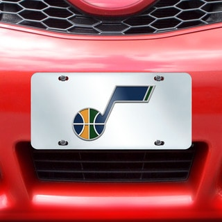 Fanmats Utah Jazz Silver Acrylic Inlaid License Plate