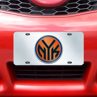 Fanmats New York Knicks Silver Acrylic Inlaid License Plate