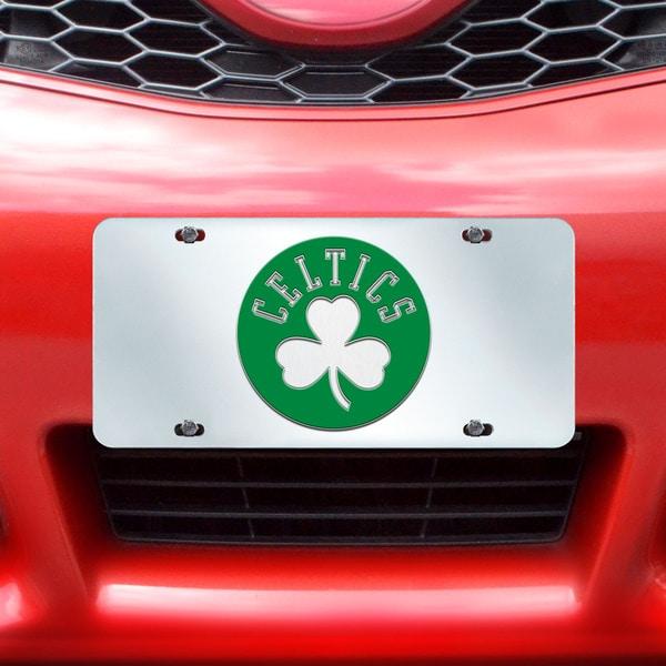 Fanmats Boston Celtics Silver Acrylic Inlaid License Plate