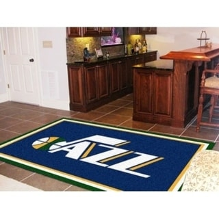 Fanmats Utah Jazz Blue Nylon Area Rug (5' x 8')