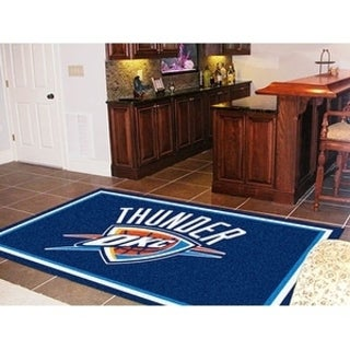 Fanmats Oklahoma City Thunder Blue Nylon Area Rug (5' x 8')