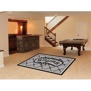 Fanmats San Antonio Spurs Black Nylon Area Rug (5' x 8')