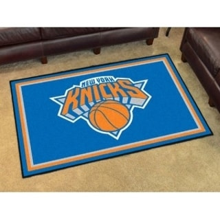 Fanmats New York Knicks Blue Nylon Area Rug (5' x 8')