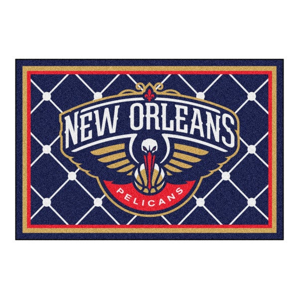 Fanmats New Orleans Pelicans Blue Nylon Area Rug (5' x 8')