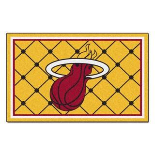 Fanmats Miami Heat Black Nylon Area Rug (5' x 8')