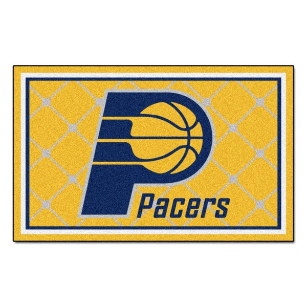 Fanmats Indiana Pacers Blue Nylon Area Rug (5' x 8')