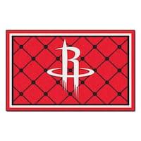 Fanmats Houston Rockets Black Nylon Area Rug (5' x 8')