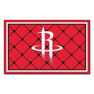 Fanmats Houston Rockets Black Nylon Area Rug (5' x 8')