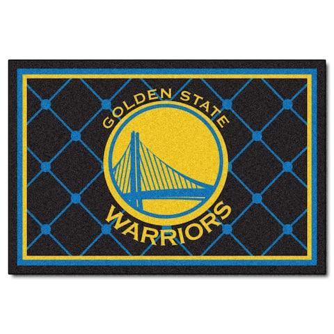 Fanmats Golden State Warriors Blue Nylon Area Rug (5' x 8')