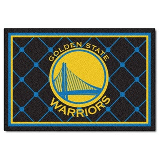Fanmats Golden State Warriors Blue Nylon Area Rug (5' x 8')
