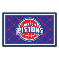 Fanmats Detroit Pistons Blue Nylon Area Rug (5' x 8')