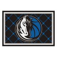 Fanmats Dallas Mavericks Black Nylon Area Rug (5' x 8')