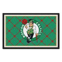 Fanmats Boston Celtics Black Nylon Area Rug (5' x 8')