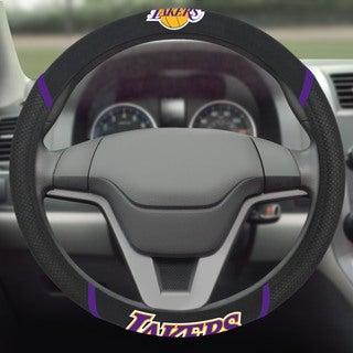 Fanmats Los Angeles Lakers Black Mesh Steering Wheel Cover