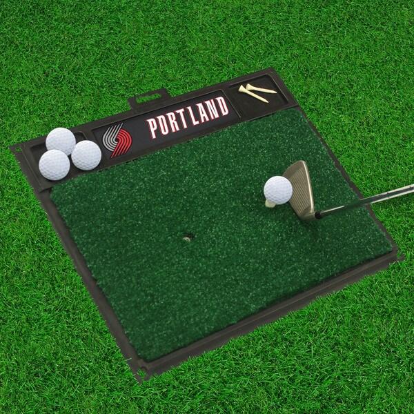 Fanmats Portland Trail blazers Black Rubber Golf Hitting Mat