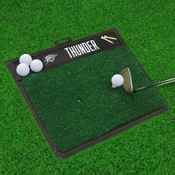 Fanmats Oklahoma City Thunder Black Rubber Golf Hitting Mat