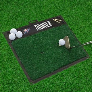 Fanmats Oklahoma City Thunder Black Rubber Golf Hitting Mat