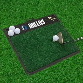 Fanmats Dallas Mavericks Black Rubber Golf Hitting Mat