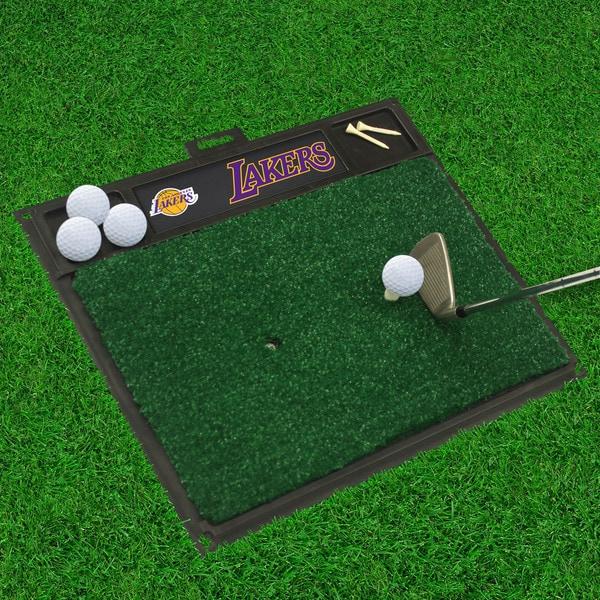 Fanmats Los Angeles Lakers Black Rubber Golf Hitting Mat