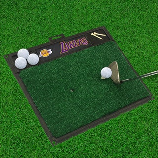 Fanmats Los Angeles Lakers Black Rubber Golf Hitting Mat