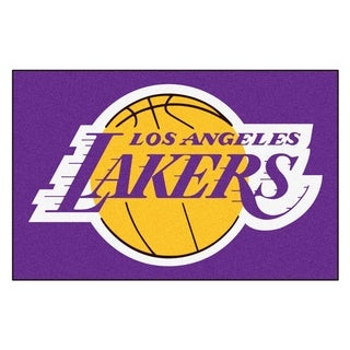 Fanmats Los Angeles Lakers Black Nylon Starter Mat (1'6 x 2'5)