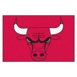 Fanmats Chicago Bulls Black Nylon Starter Mat (1'6 x 2'5)