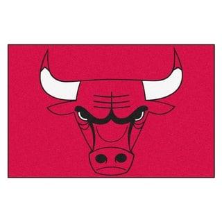 Fanmats Chicago Bulls Black Nylon Starter Mat (1'6 x 2'5) https://ak1.ostkcdn.com/images/products/10527345/P17609985.jpg?impolicy=medium