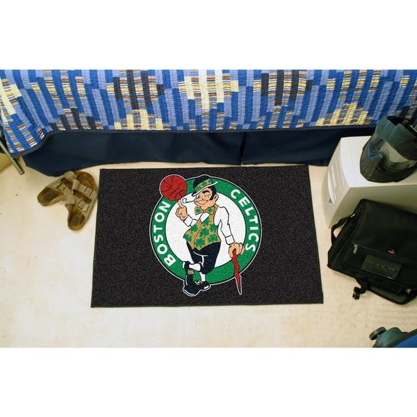 Fanmats Boston Celtics Black Nylon Starter Mat (1'6 x 2'5)