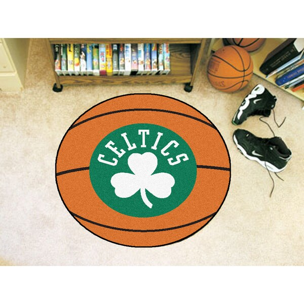 Fanmats Boston Celtics Orange Nylon Basketball Mat (2'2 x 2'2)