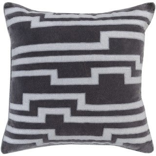 Earnest Geometric Feather and Down Filled or Poly Filled 18-inch Throw Pillow