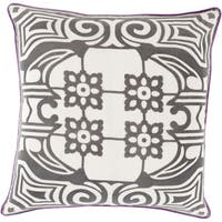 Decorative Allyson Floral Feather Down or Filled Throw 18-inch Throw Pillow