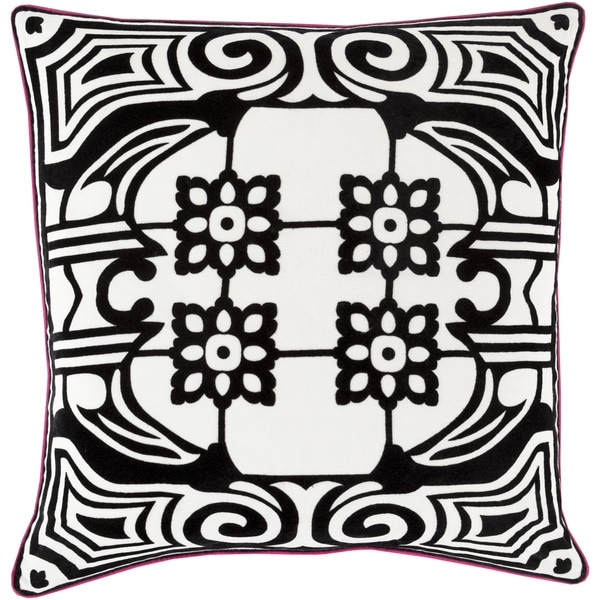 Decorative Allyson Floral Down or Filled Throw 18-inch Throw Pillow