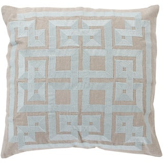 Decorative Felipe Geometric Feather and Down or Polyester Filled 18-inch Throw Pillow