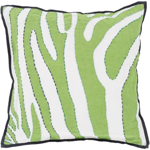 Decorative Joanna Animal 18-inch Poly or Feather Down Filled Throw Pillow