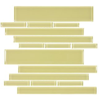 Chartreuse Club 7.81 square Foot Glass Piano Tiles (Case of 11 sheets)