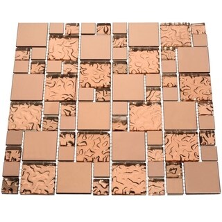 Copper Goddess 10.78 square Foot Glass Tiles (Case of 11 sheets)