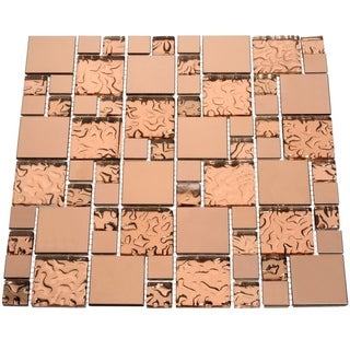 Copper Goddess Glass Tiles (10.76 Square Feet) (Case of 11 sheets)