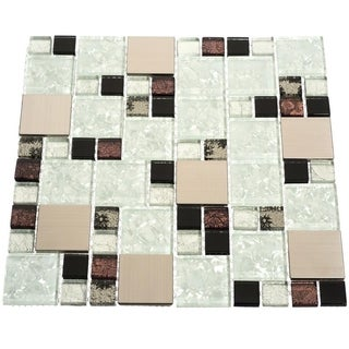 Palermo 10.78 square Foot Glass Tiles (Case of 11 sheets)
