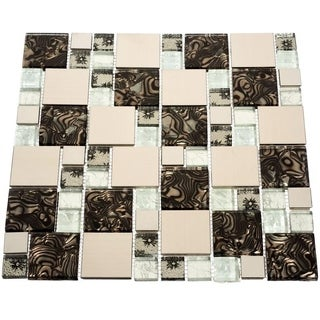 Florence 10.78 square Foot Glass Tiles (Case of 11 sheets)