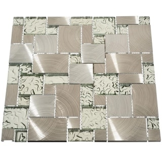 Modern 10.78 sq Ft Glass Tiles (Case of 11 sheets)