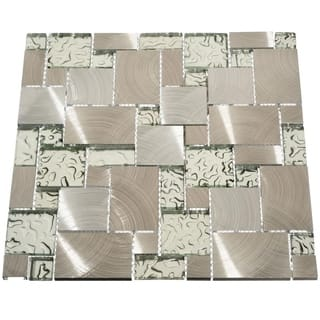 Modern Glass Tiles (10.76 Square Feet) (Case of 11 sheets)|https://ak1.ostkcdn.com/images/products/10527422/P17610052.jpg?impolicy=medium