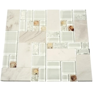 Polynesian Shore 10.78 square Foot Glass Tiles (Case of 11 sheets)